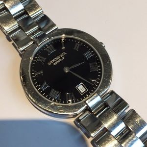 Vintage steel Raymond Weil Swiss Watch